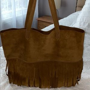 Madewell The Transport Tote with Fringe BNWT